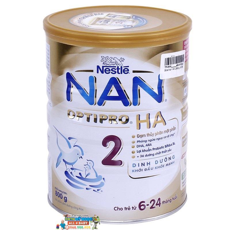 Sữa NAN Optipro HA số 2 (800g) (6-24 tháng)