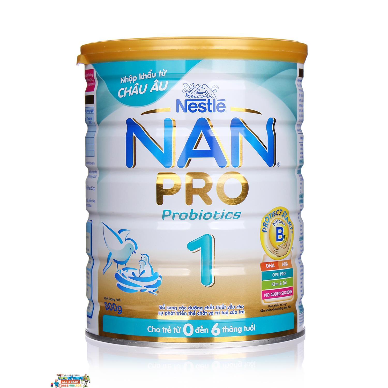 Sữa NAN Pro số 1 (800g) (0-6 tháng)