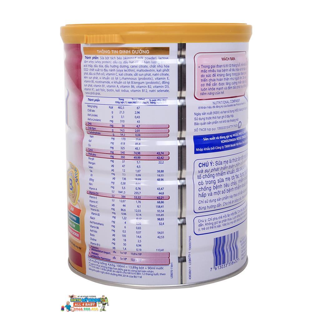 Sữa NAN Pro số 2 Công ty (800g) (6-12 tháng)