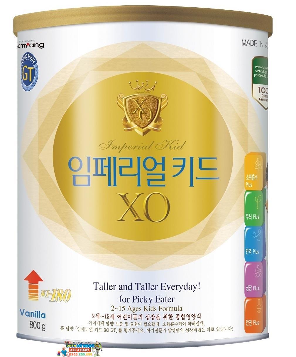 Sữa XO Kid 800g dành cho trẻ từ 2 đến 15 tuổi