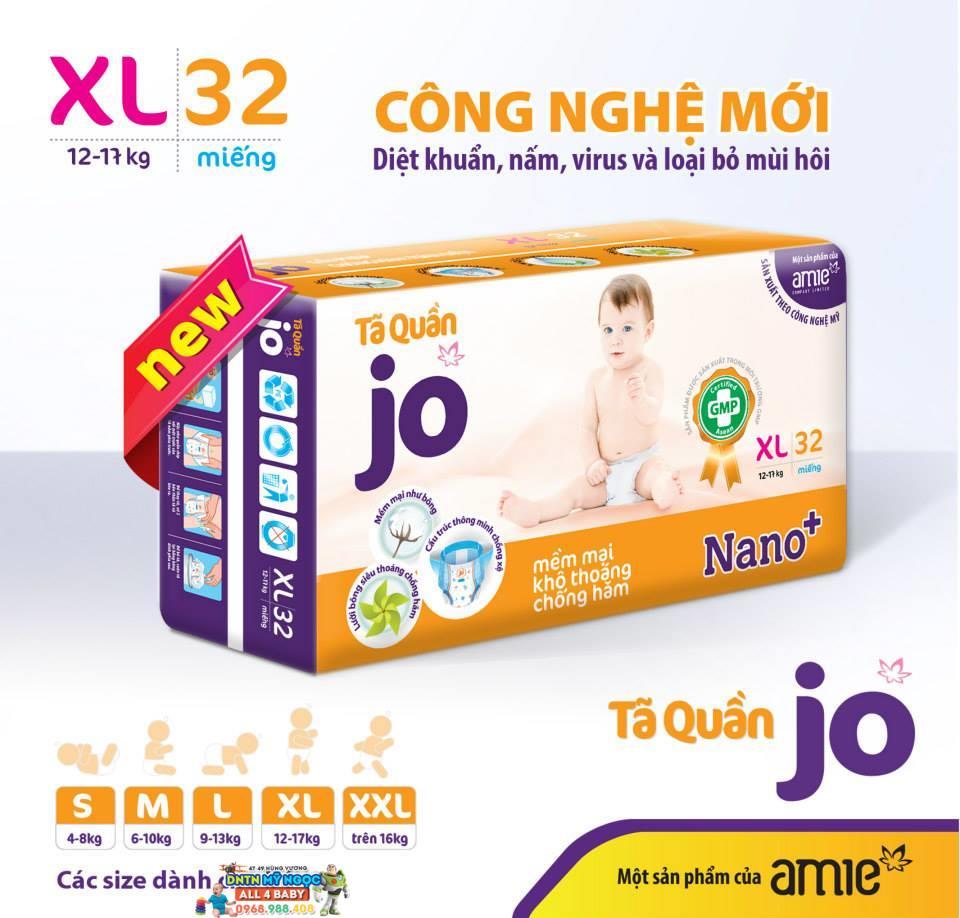 Tã quần Jo XL32 (12-17kg)