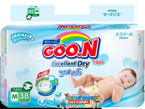 Tã dán Goon Renew  Slim các size (bịch trung)