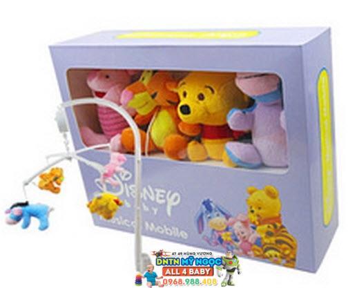 Treo cũi gấu bông Disney có nhạc
