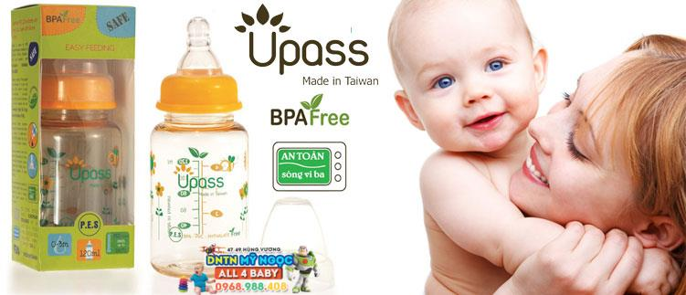 Bình sữa Upass 240ml UP02801CC/ CL