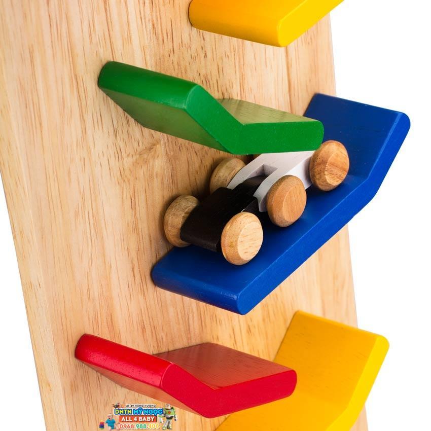 Đồ chơi gỗ WinWinToys - Vách xe hơi trượt đuổi 64092