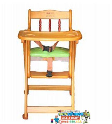 Ghế ăn bột bằng gỗ Veesano điều chỉnh độ cao VM213