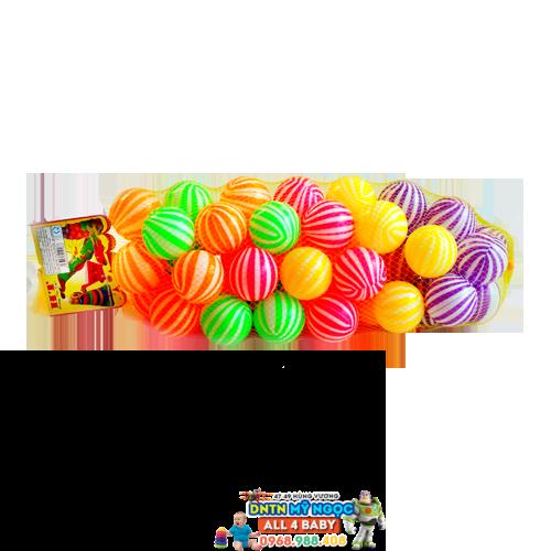 Túi 50 quả banh sọc mềm HT9080