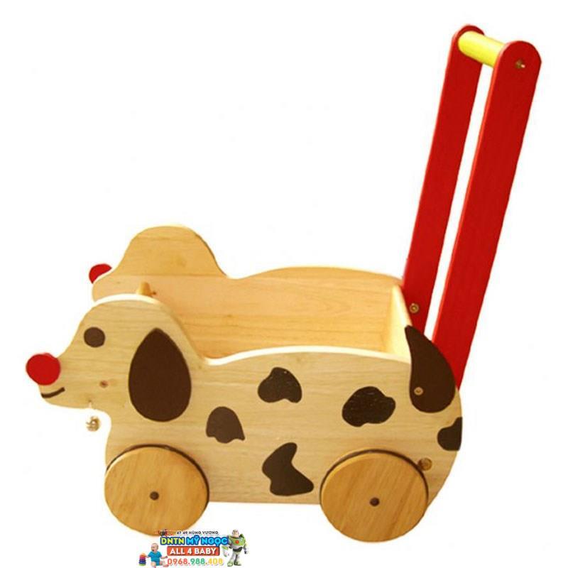 Xe đẩy tập đi chó chở đồ chơi WInWinToys