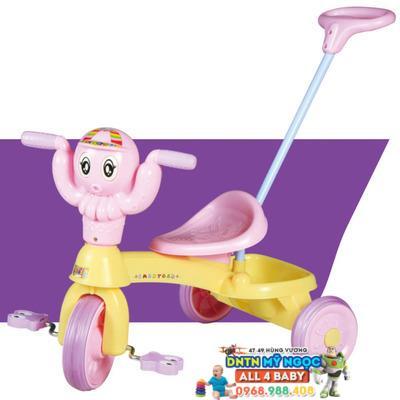 Xe đạp đẩy 3 bánh trẻ em Song Long con kiến có cần đẩy 301C