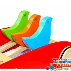 Xe đẩy tập đi gỗ Veesano con chim