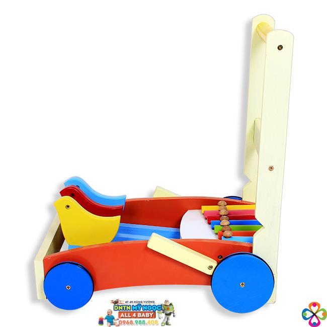 Xe đẩy tập đi gỗ Song Son đàn gõ