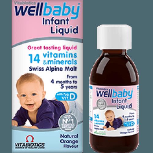 Vitamin tăng sức đề kháng cho bé WellBaby Infant Liquid - Anh