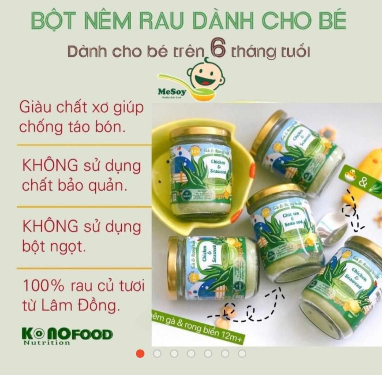 Bột nêm dinh dưỡng Konofood cho bé