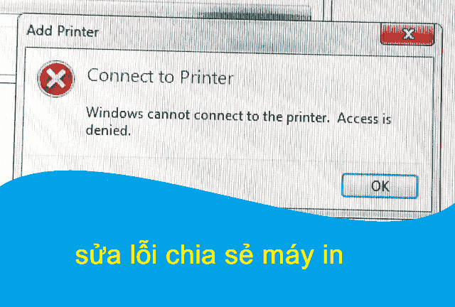 connect to printer windows cannot connect to the printer access is denied