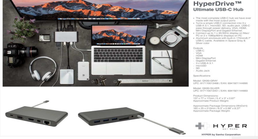 HyperDrive DRIVE Ultimate USB-C Hub
