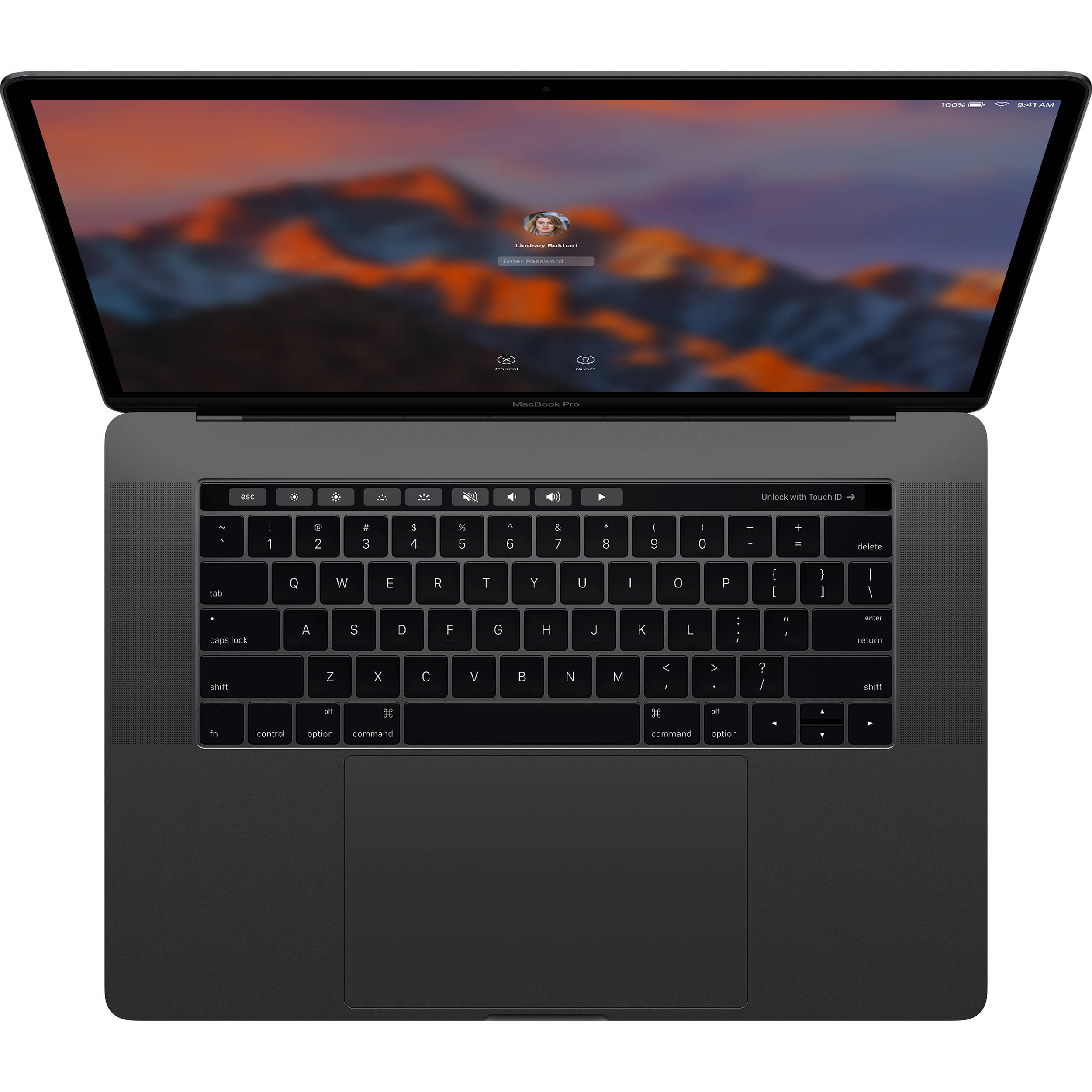 MPTT2 - MacBook Pro 2017 15 inch Quad I7 3.1Ghz 2TB SSD OPTION (SPACE GRAY) New 99%