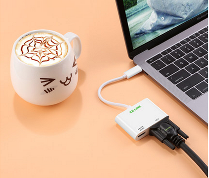 Cáp USB Type C to HDMI+VGA UGREEN