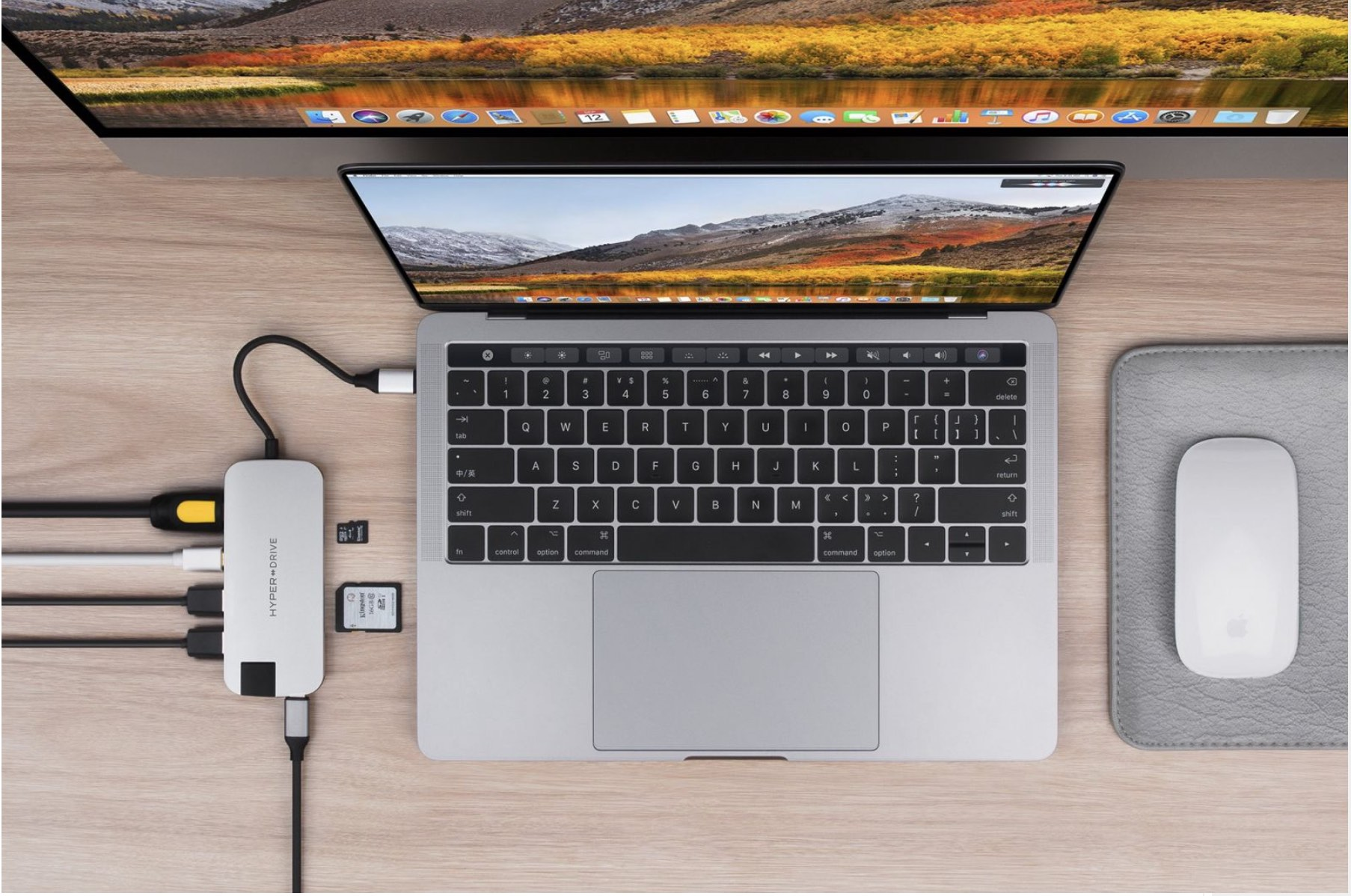 Cổng chuyển Hyperdrive SLIM 8 in 1 USB-C Hub for MacBook, PC & Devices