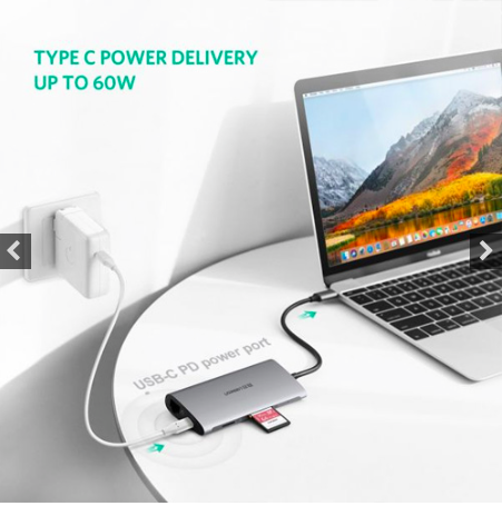 UGREEN 8 IN 1 USB-C HUB MULTI-PORT TYPE C ADAPTER (50538)