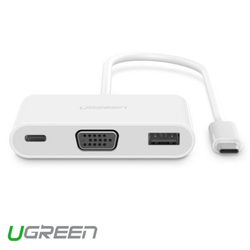USB Type-C 3.1 To USB 3.0 + VGA Hiệu Ugreen (30376)