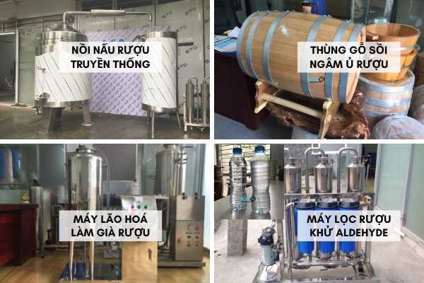 Để có rượu chất lượng cao, mang hương vị riêng biệt, nên sử dụng cùng Máy lọc rượu, Thùng gỗ sồi và Máy lão hóa rượu