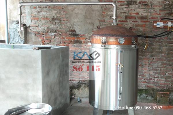 Nồi nấu rượu bằng điện vỏ inox ruột đồng mang hương vị truyền thống đặc trưng