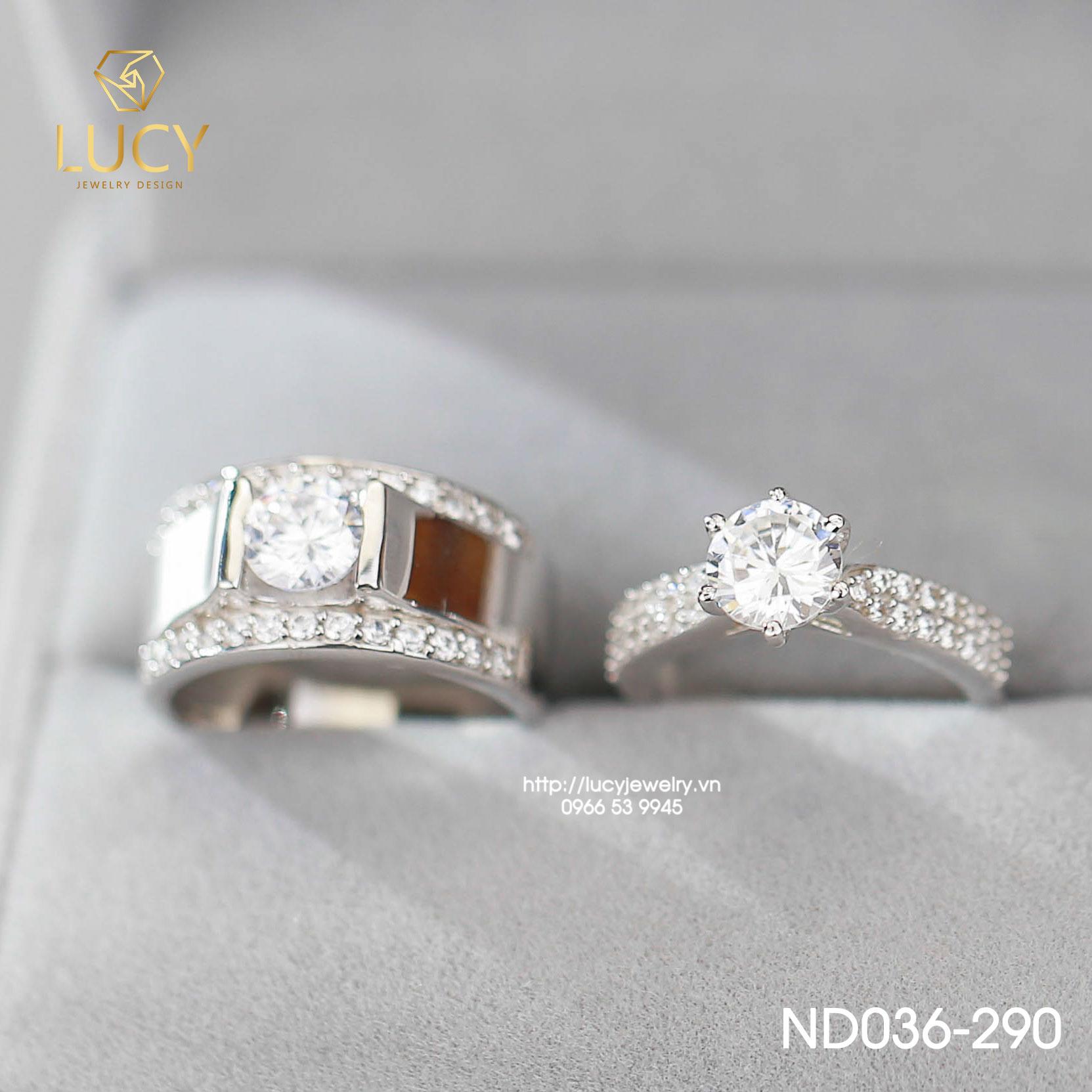 Nhẫn đôi nhẫn cặp đẹp Bạc Lucy ND036-290