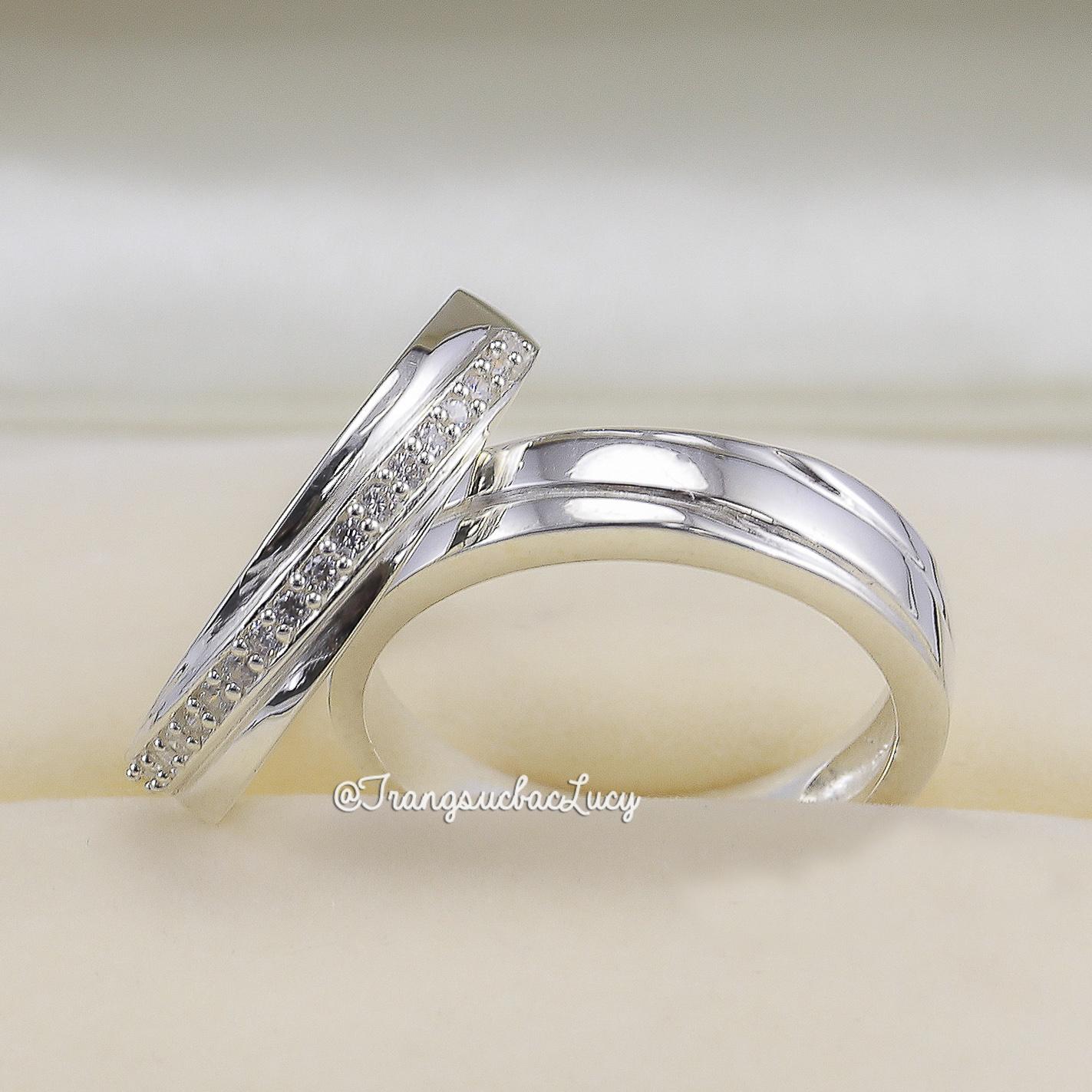Nhẫn đôi nhẫn cặp bạc Lucy - ND047
