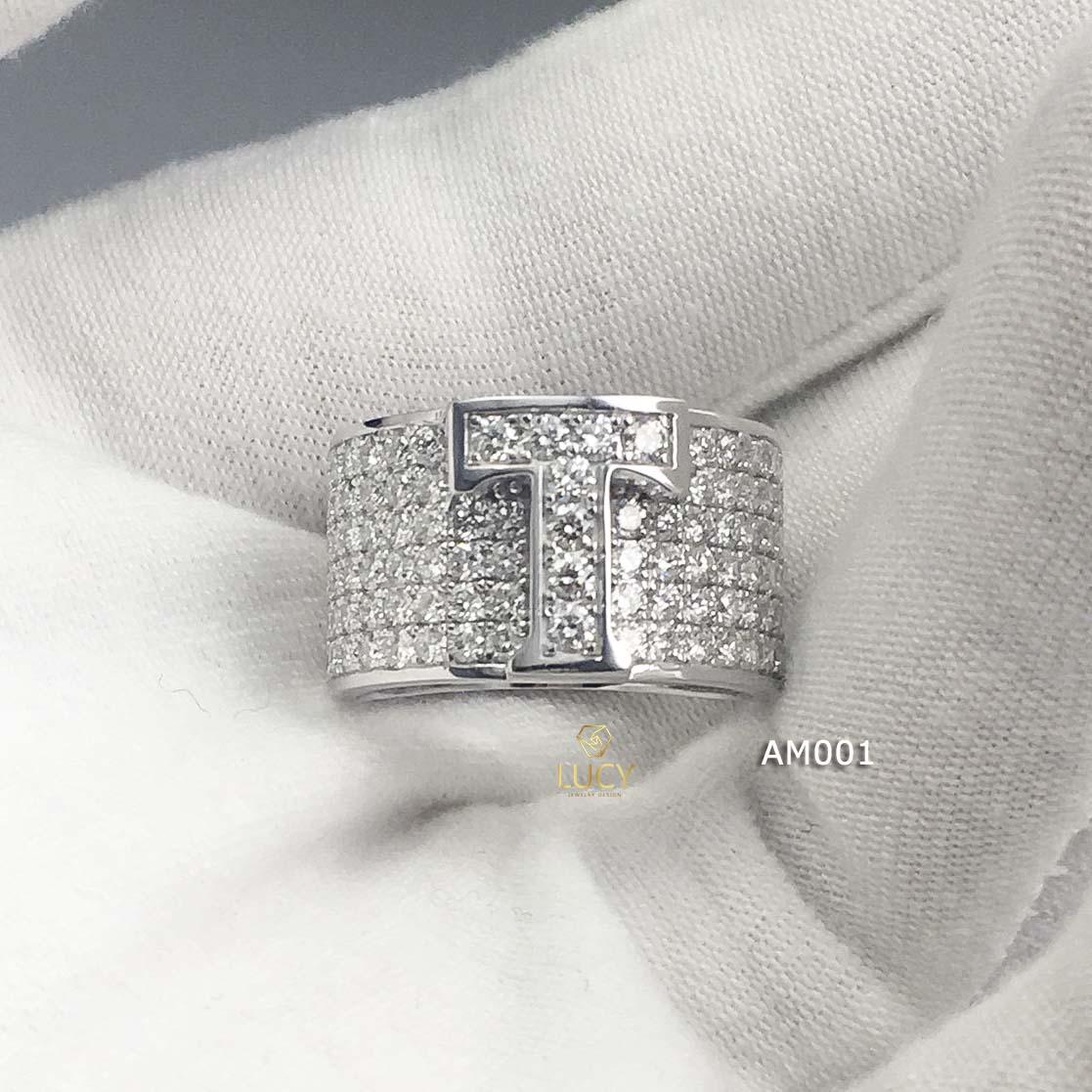 AM001 Nhẫn vàng nam hàng thiết kế LUCY JEWELRY