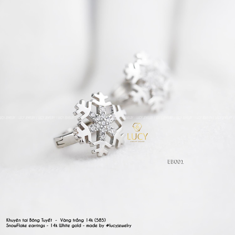 EB001 Khuyên tai vàng thiết kế Lucy Jewelry