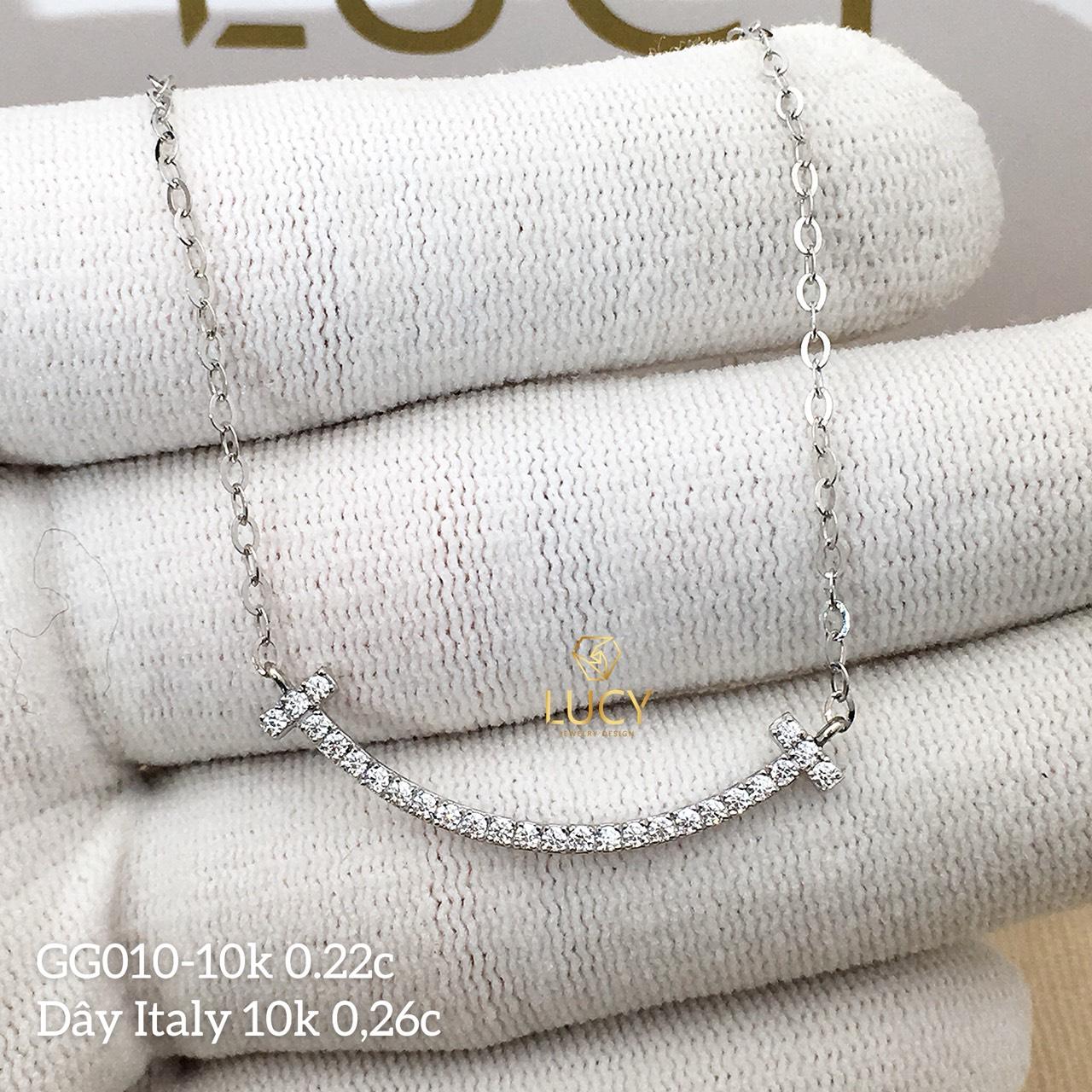 GG010 Mặt dây chuyền miệng cười hàng thiết kế vàng 10k 14k 18k - Lucy Jewely