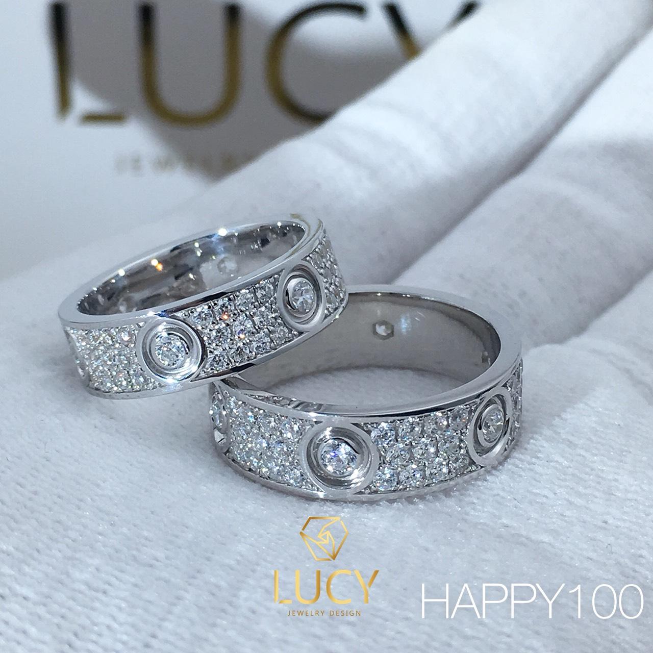 HAPPY100 Nhẫn cưới thiết kế, nhẫn cưới cao cấp, nhẫn cưới kim cương - Lucy Jewelry