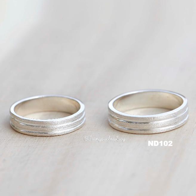 Nhẫn đôi nhẫn cặp bạc Lucy - ND102