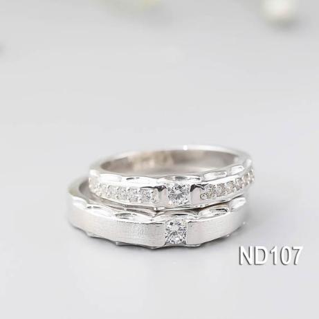 Nhẫn đôi nhẫn cặp đẹp bạc Lucy - ND107