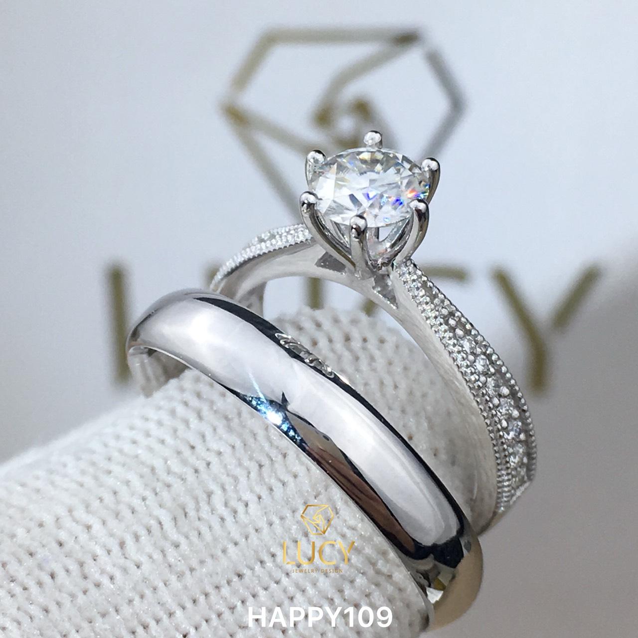 HAPPY109 Nhẫn cưới thiết kế, nhẫn cưới đẹp - Lucy Jewelry