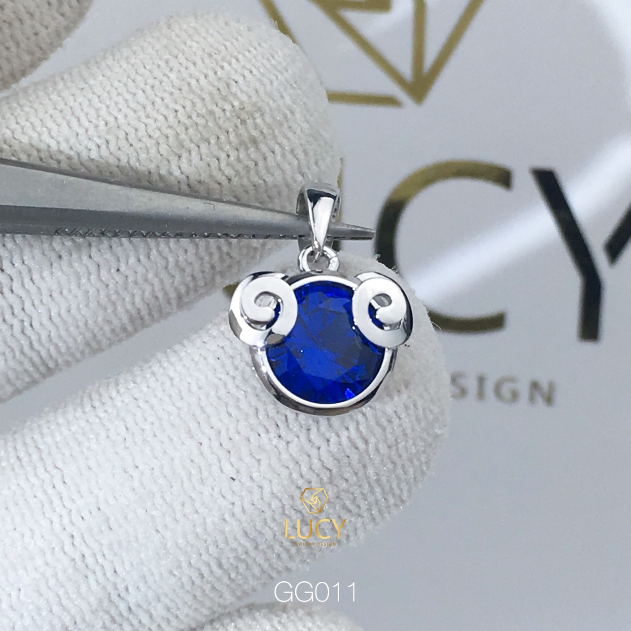 GG011 Mặt dây chuyền thiết kế cung hoàng đạo Bạch Dương vàng 10k 14k 18k - Lucy Jewely