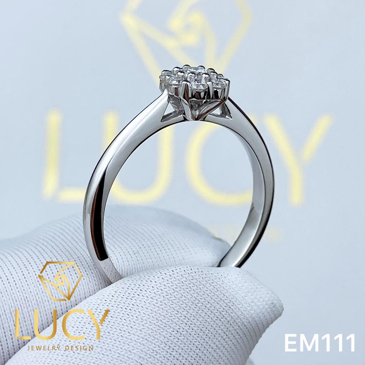 EM111 Nhẫn cầu hôn đính hôn, nhẫn vàng nữ, nhẫn ổ kim cương - Lucy Jewelry