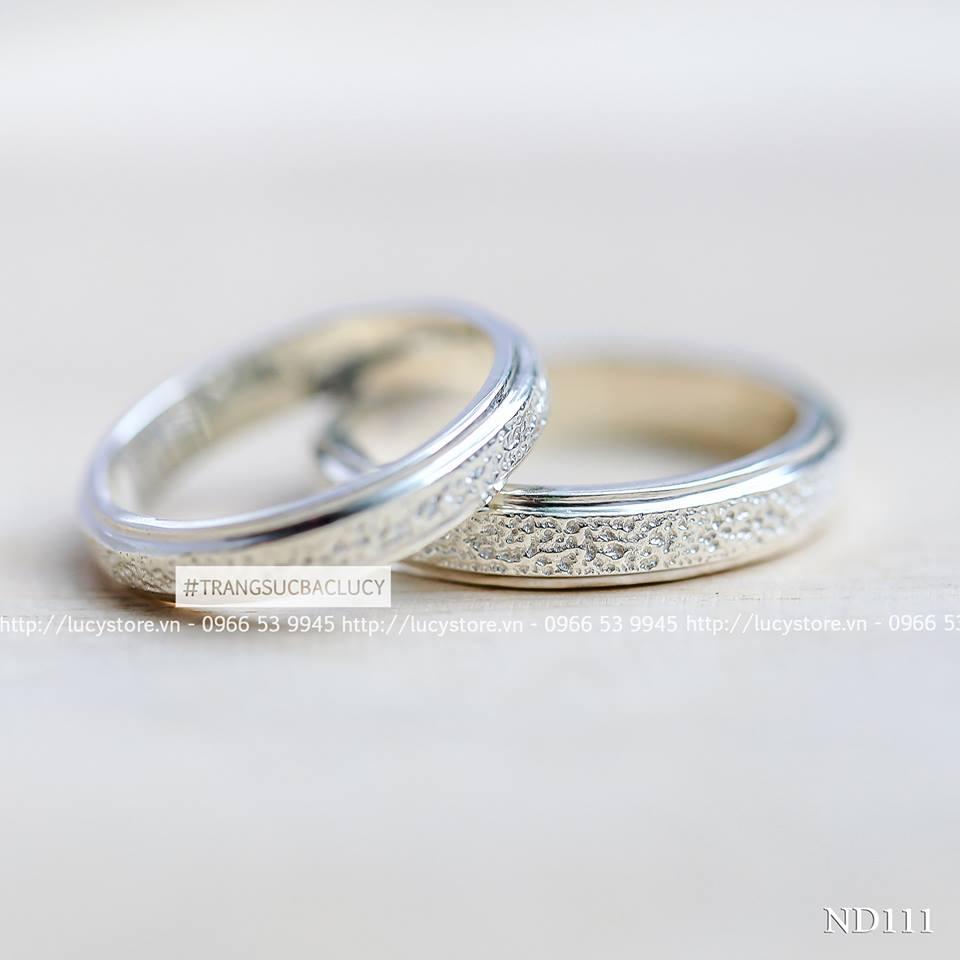 Nhẫn đôi nhẫn cặp bạc Lucy - ND111