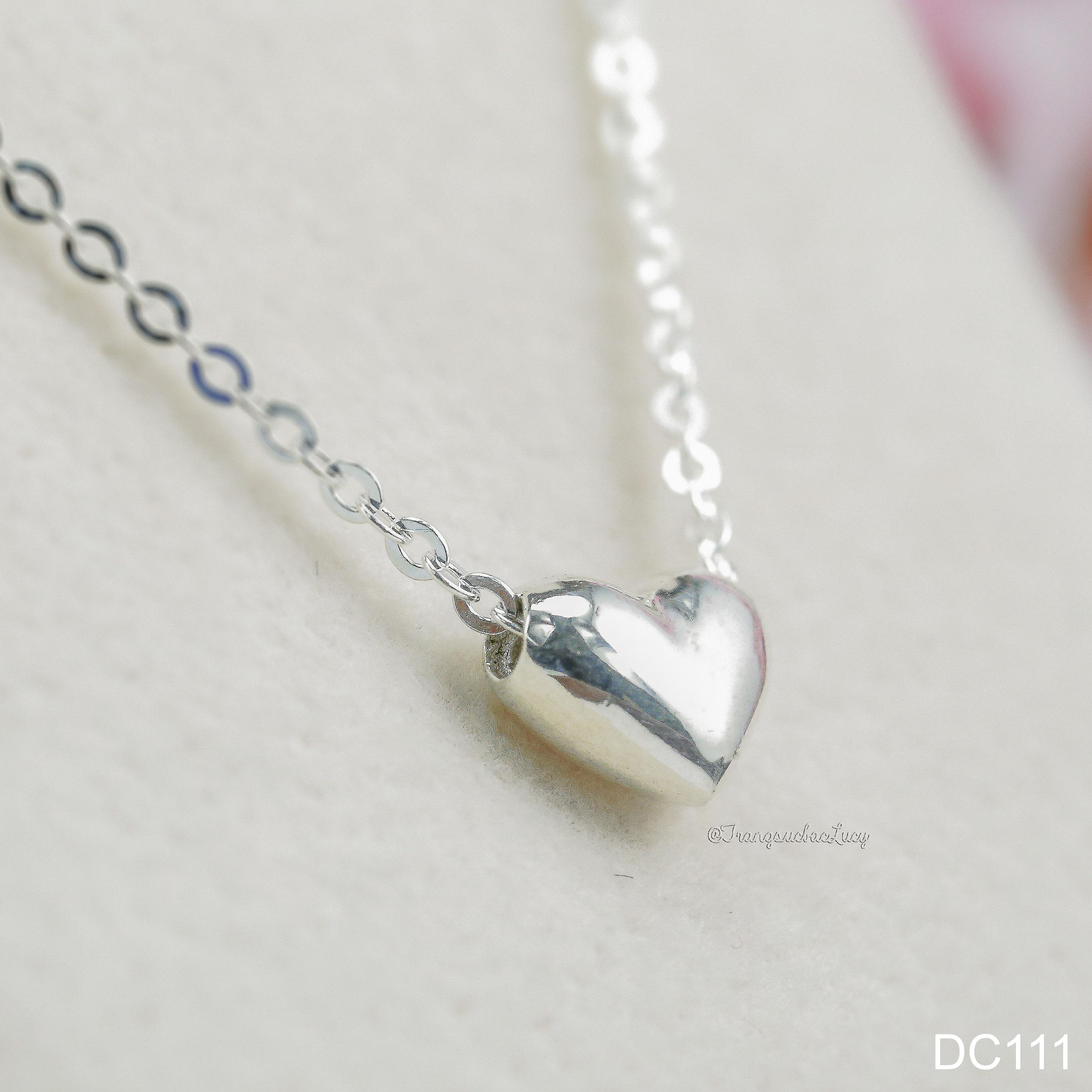 dây chuyền trái tim phồng - DC111