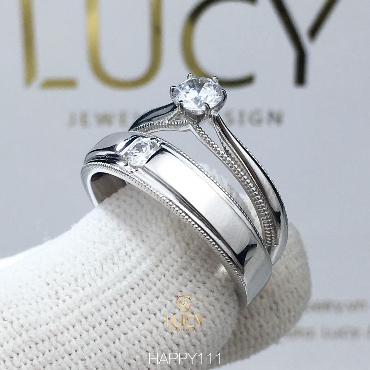 HAPPY111 Nhẫn cưới thiết kế, nhẫn cưới đẹp, nhẫn cưới cao cấp, nhẫn cưới kim cương - Lucy Jewelry