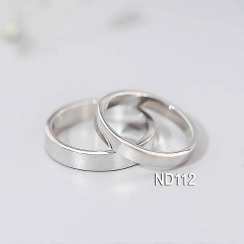 Nhẫn đôi nhẫn cặp trơn đơn giản đẹp Bạc Lucy - ND112