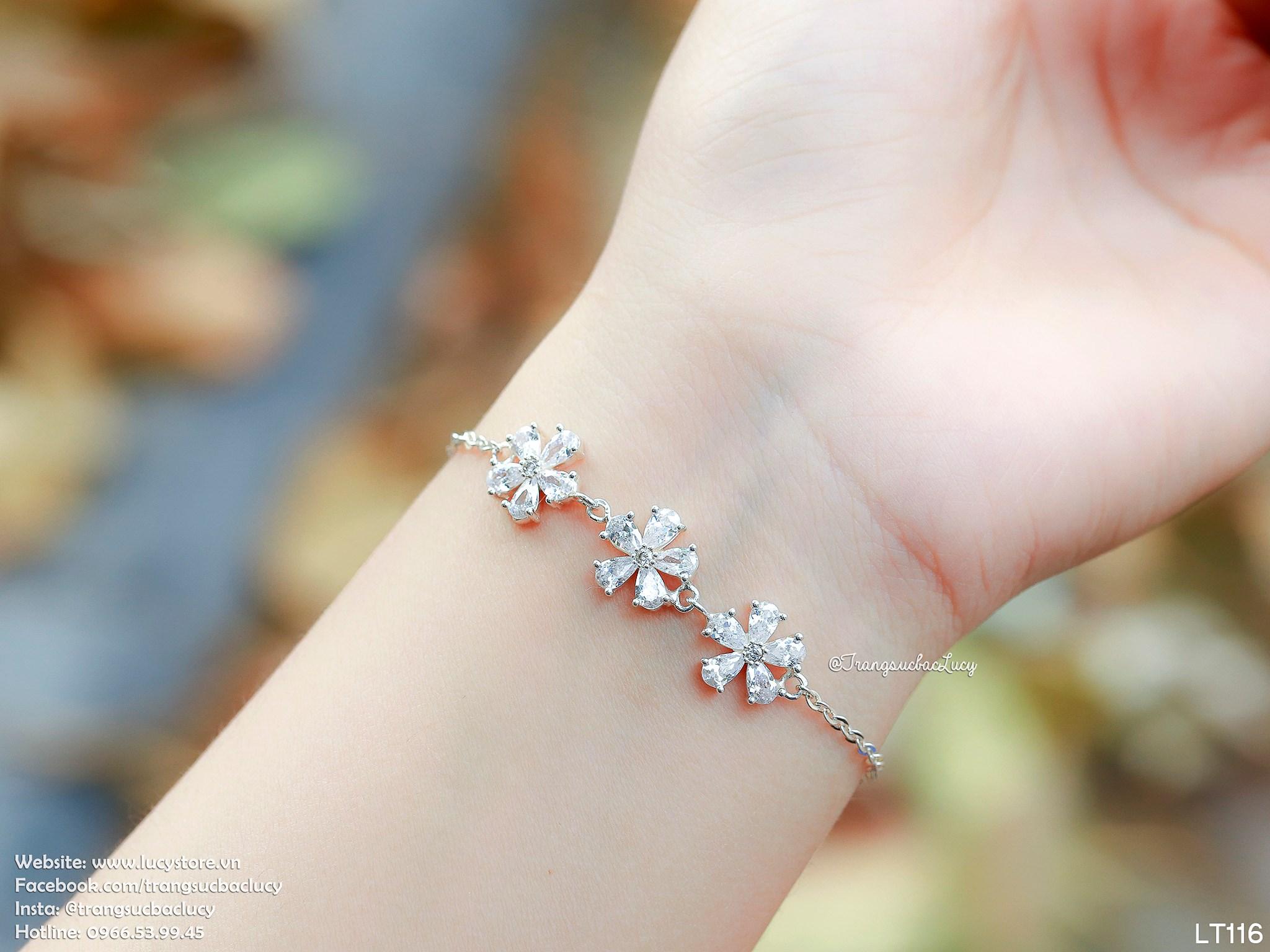 Lắc tay hoa daisy 3 bông hoa - LT116