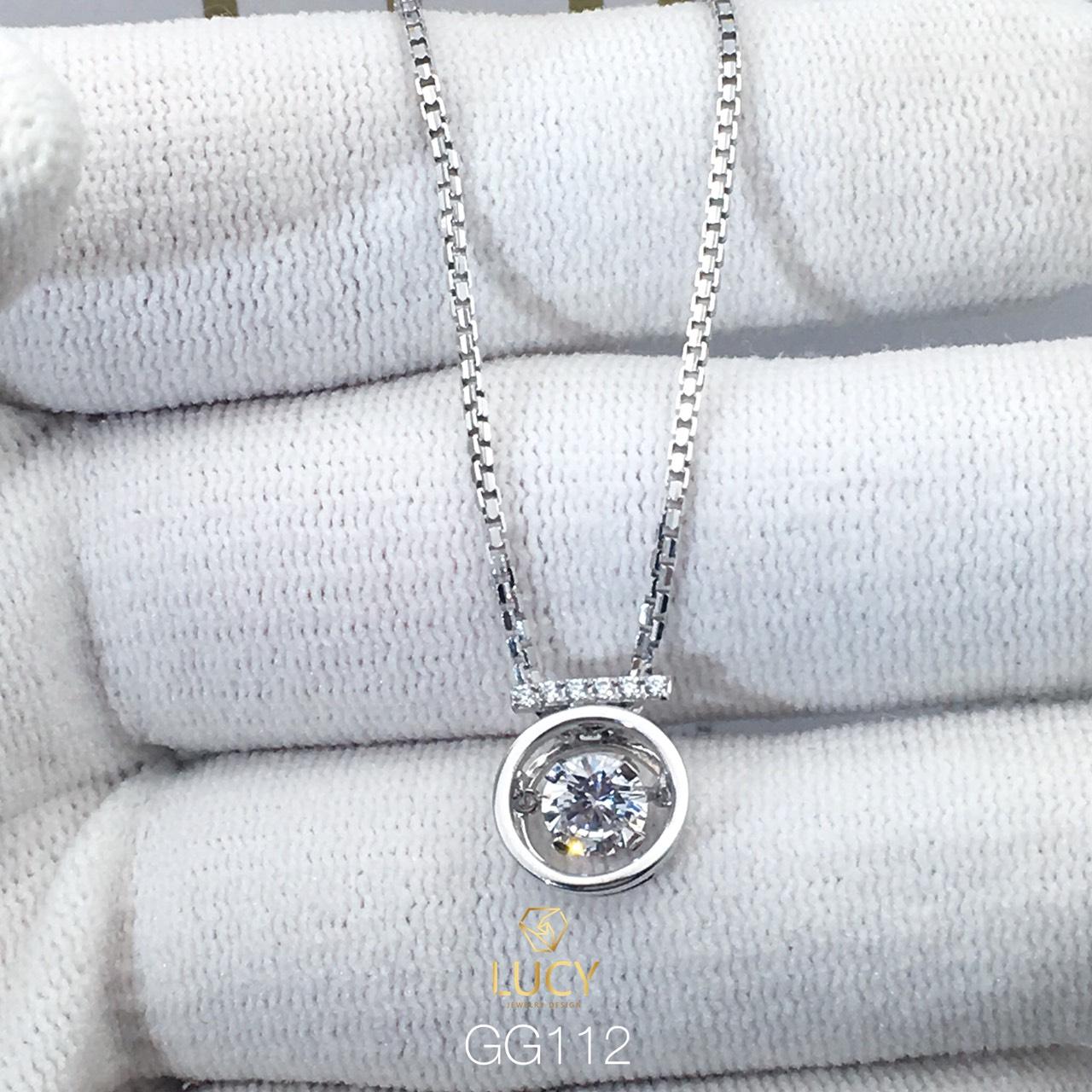 GG012 Mặt dây chuyền thiết kế đá chủ 5mm nhập nháp vàng 10k 14k 18k - Lucy Jewely