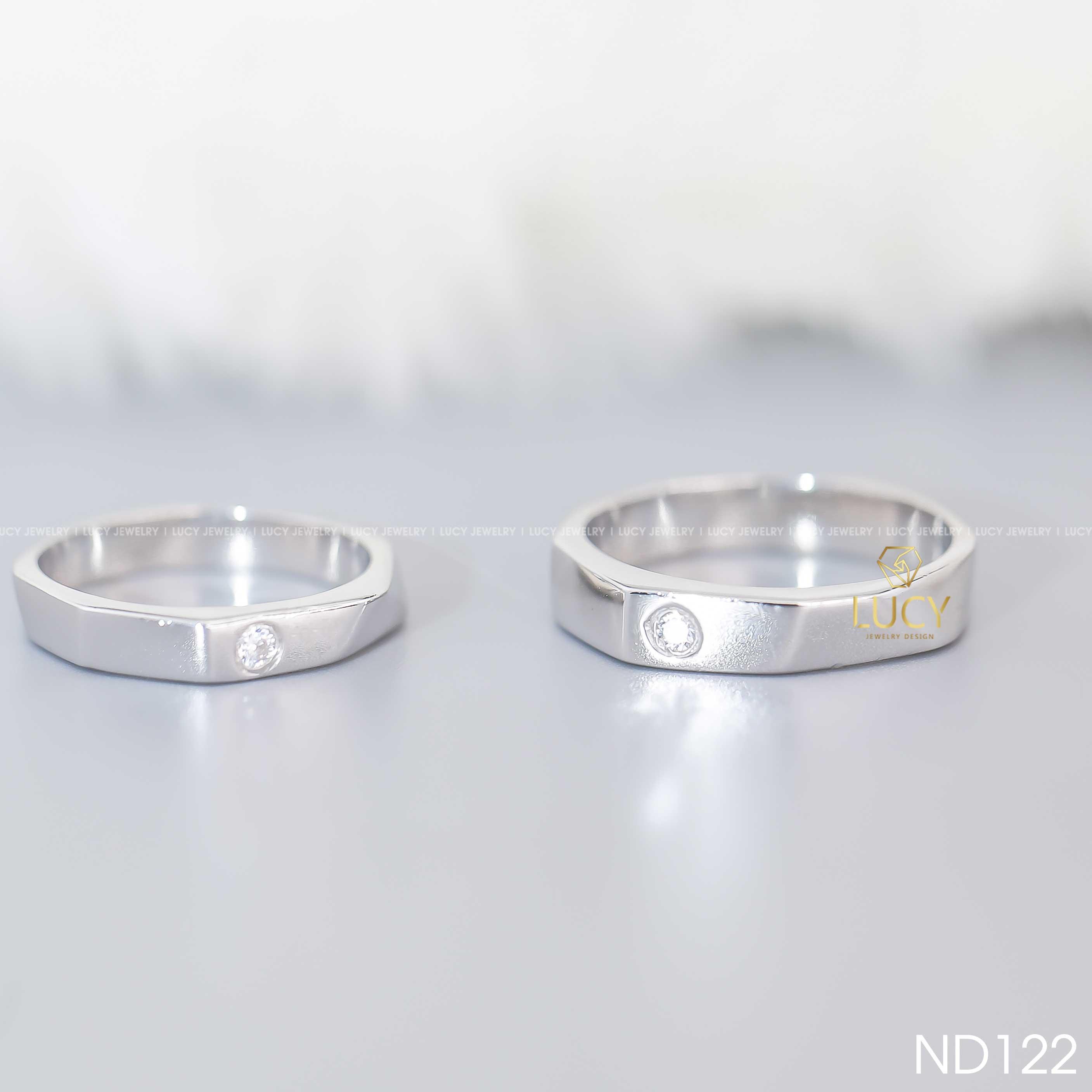 Nhẫn đôi nhẫn cặp bạc Lucy - ND122