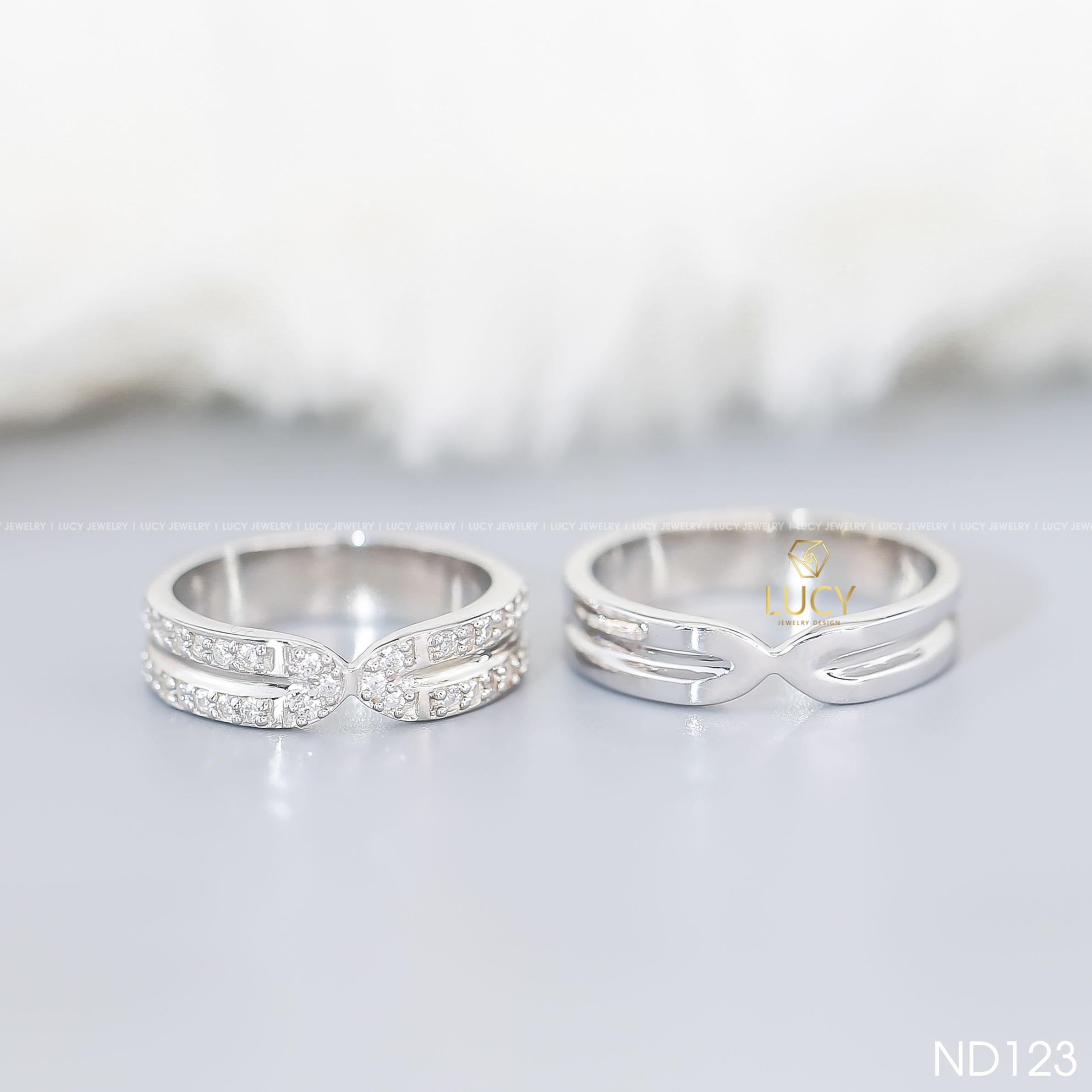 Nhẫn đôi nhẫn cặp bạc Lucy - ND123