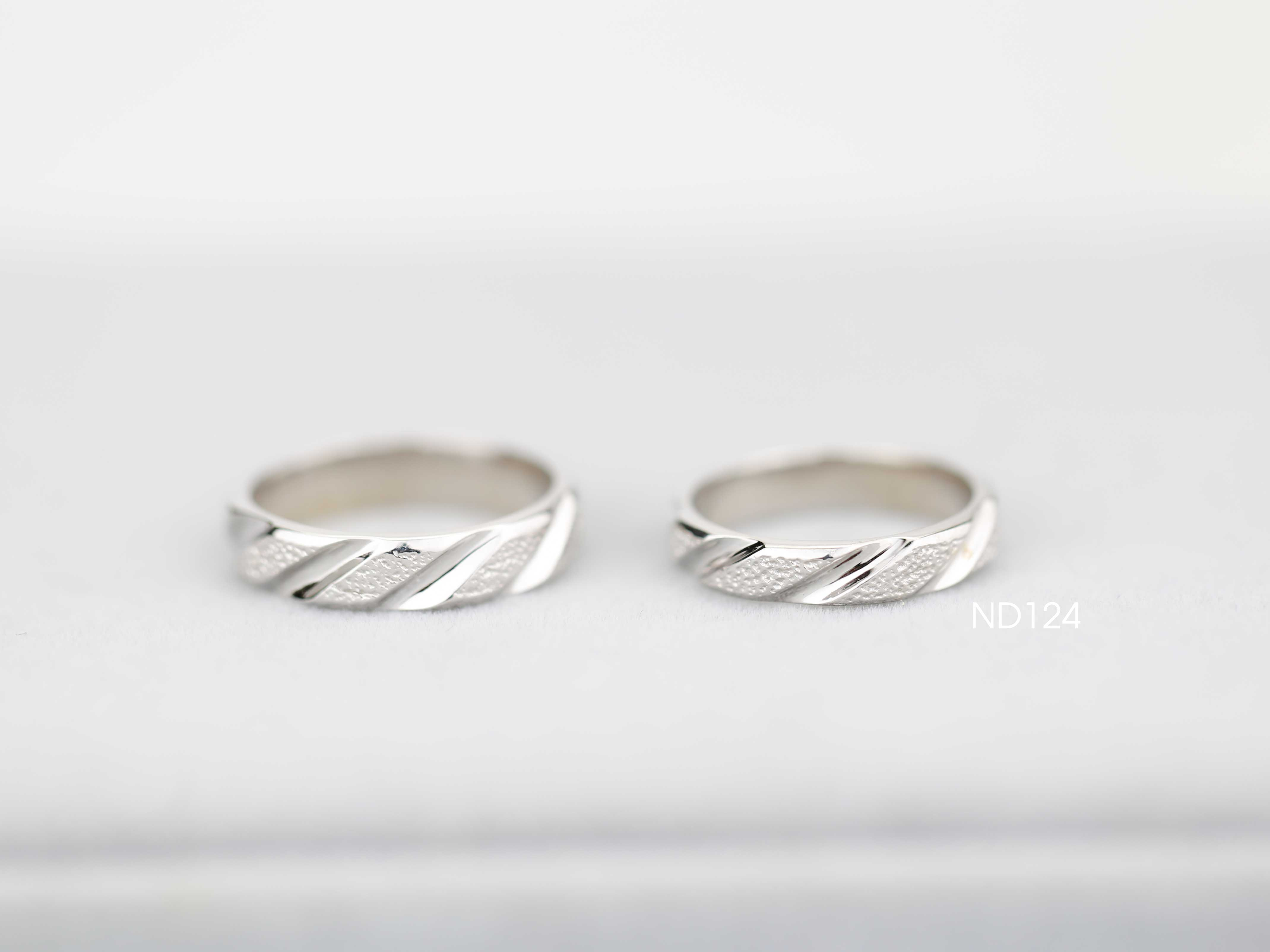 Nhẫn đôi nhẫn cặp bạc Lucy - ND124