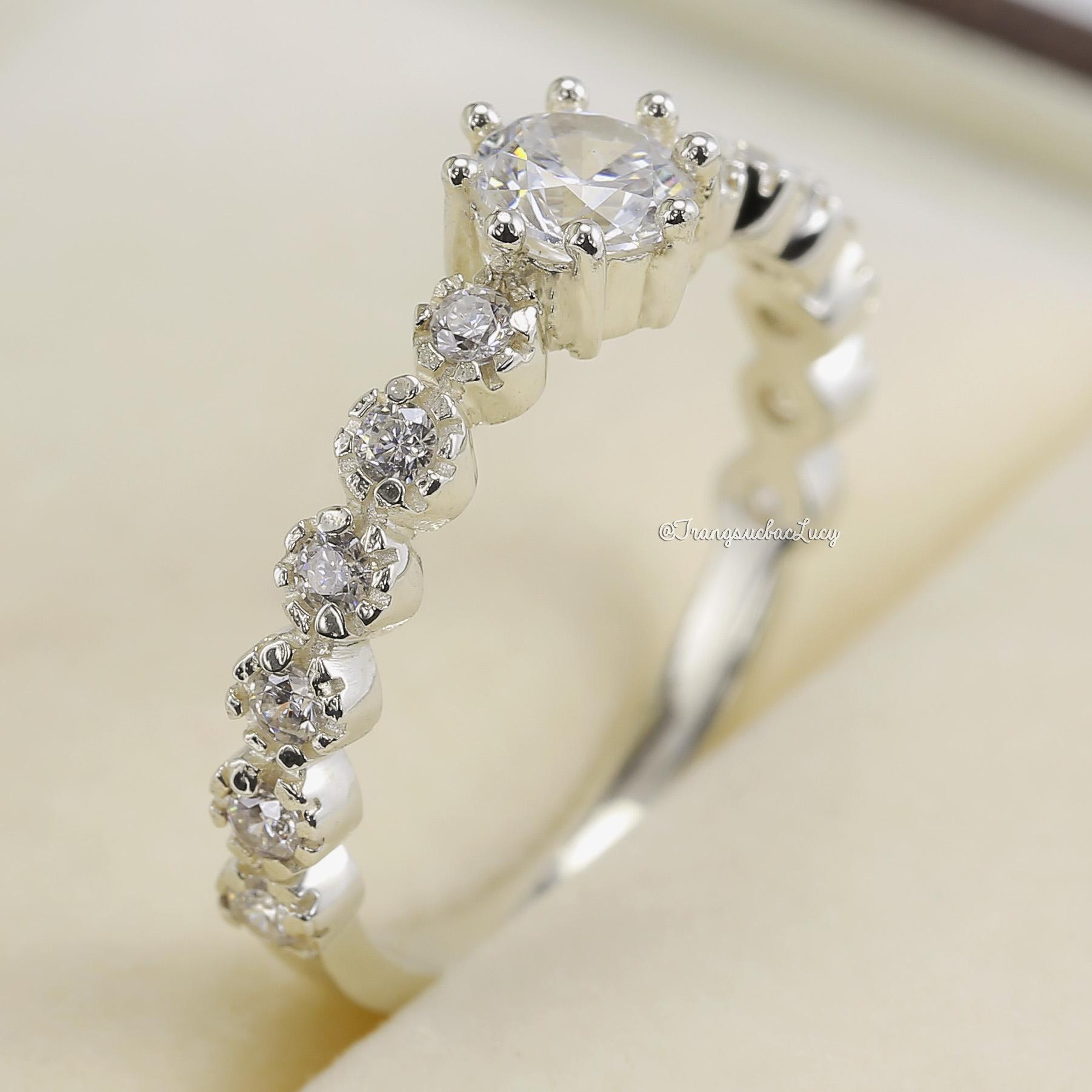 Nhẫn bạc nữ đẹp - RW195