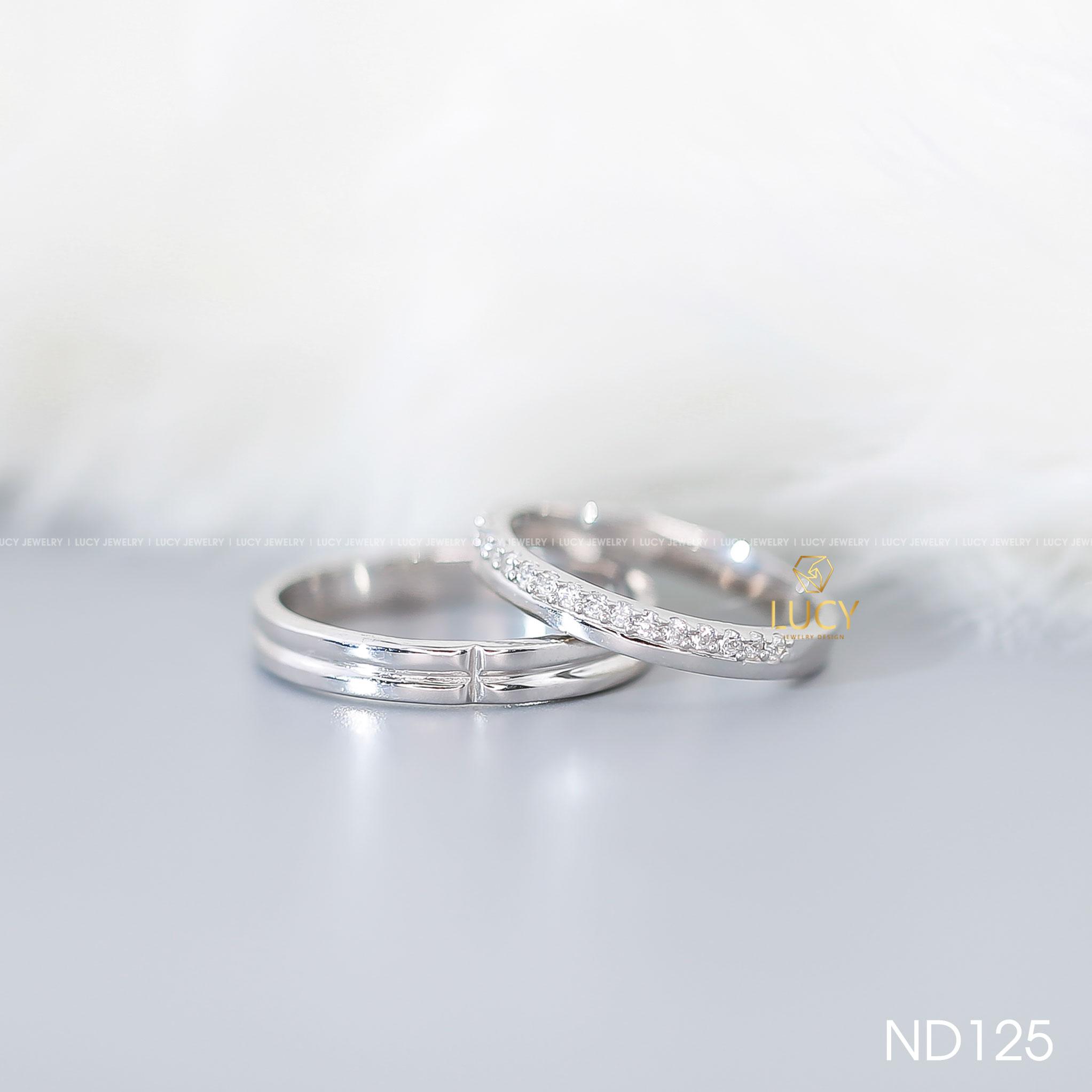 Nhẫn đôi nhẫn cặp bạc Lucy - ND125