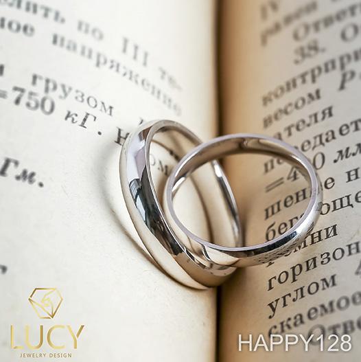 HAPPY128 Nhẫn cưới trơn, nhẫn cưới thiết kế, nhẫn cưới cao cấp, nhẫn cưới  kim cương - Lucy Jewelry