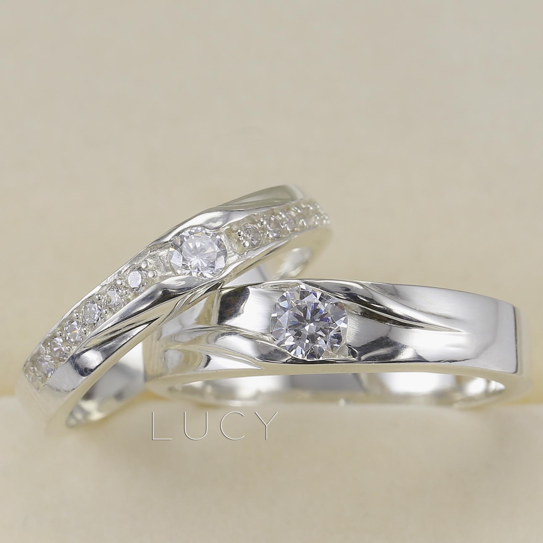 Nhẫn đôi nhẫn cặp bạc Lucy - ND054